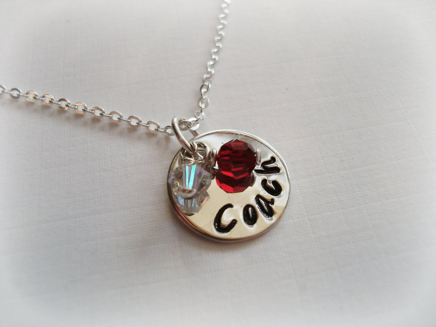 Coach Sterling Silver Stamped Necklace