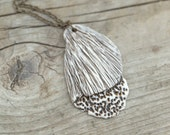 Fragment -Porcelain Necklace with details of mushroom and coral