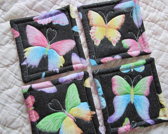 Butterfly Quilted Coasters (Set of 4)