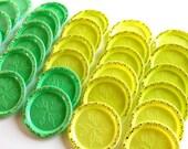 Vintage Lemon and Lime Kitsch Coasters