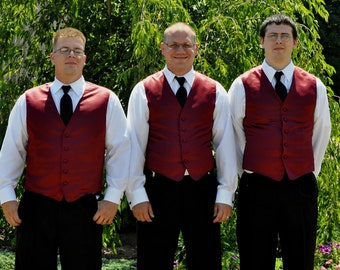 Mens Vest Groomsmen Groom Custom Made to Order