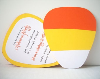 Candy Corn  Invitation - Pack of 10