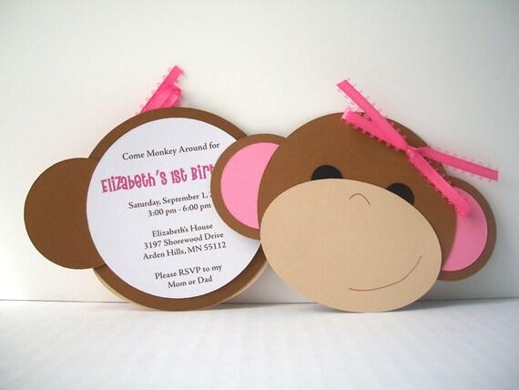 Monkey Around Invitation - Pack of 10
