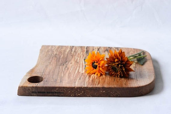 Discounted, Natural Edge Salvaged Wood Cutting Board 671, Ready to Ship