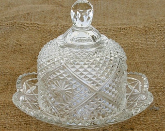 Beautiful Avon Covered Butter Dish