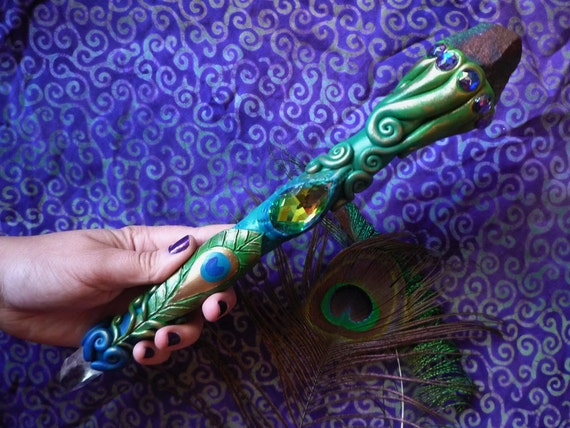 Peacock wand spiritual awakening by unseelienchantments on for Portent of item protection