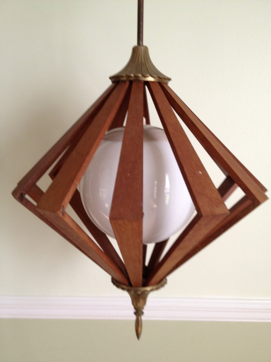 Mid century modern eames era chandelier 1960s 1970s by for Mid modern period