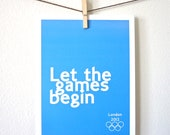 Let the games Begin. London 2012. Olympic Games Inspired. Choose your color.