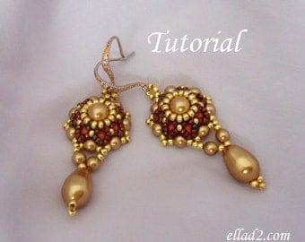 Tutorial Go Girl Earrings - Beading tutorial PDF