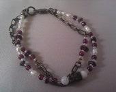 Garnets & Pearls Bracelet