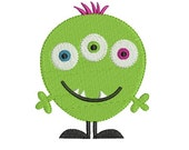 Cute Monster 3 Machine Embroidery Design 2 Sizes