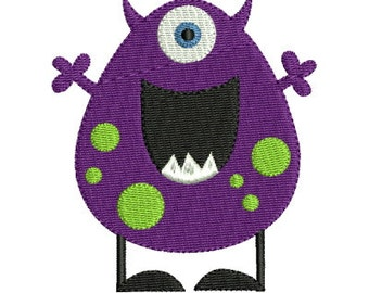 Cute Monster 7 Machine Embroidery Design 2 Sizes