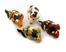 Popular items for ceramic fish on etsy for Koi fish beads