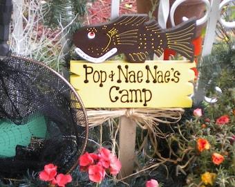Yard Sign 324 -  Fish Camp Sign