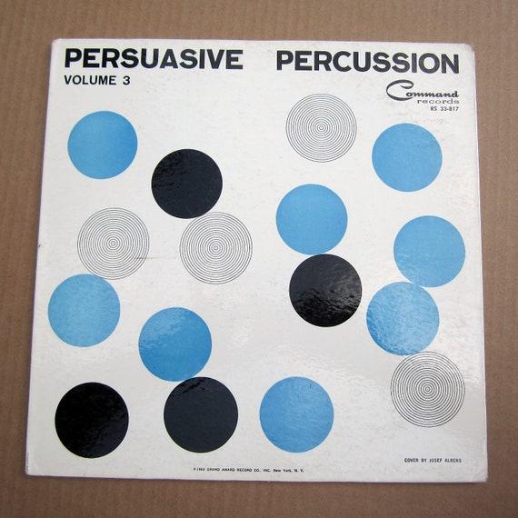 Rare Josef Albers Op Art LP cover - Persuasive Percussion Volume 3