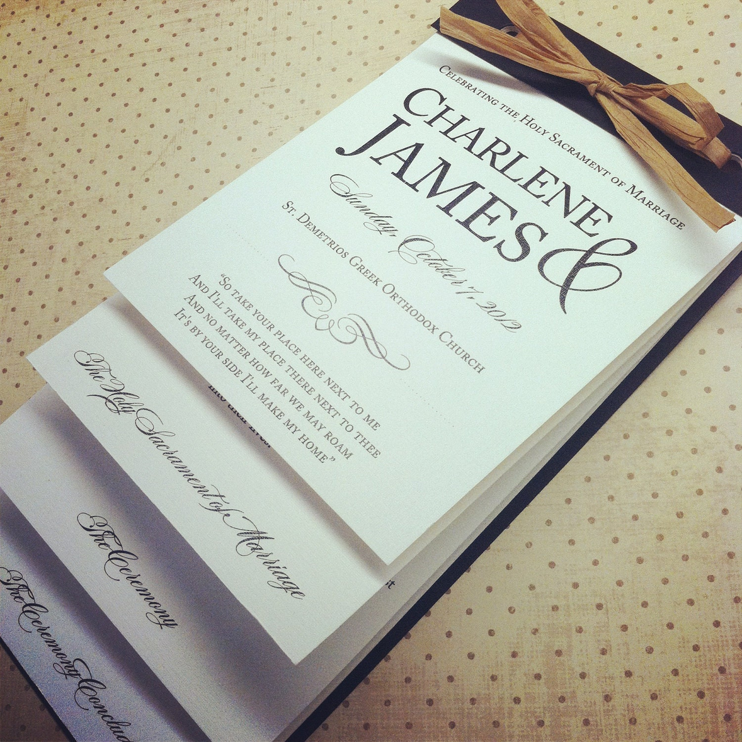 Wedding Programs: The Nicole Layered Wedding Programs
