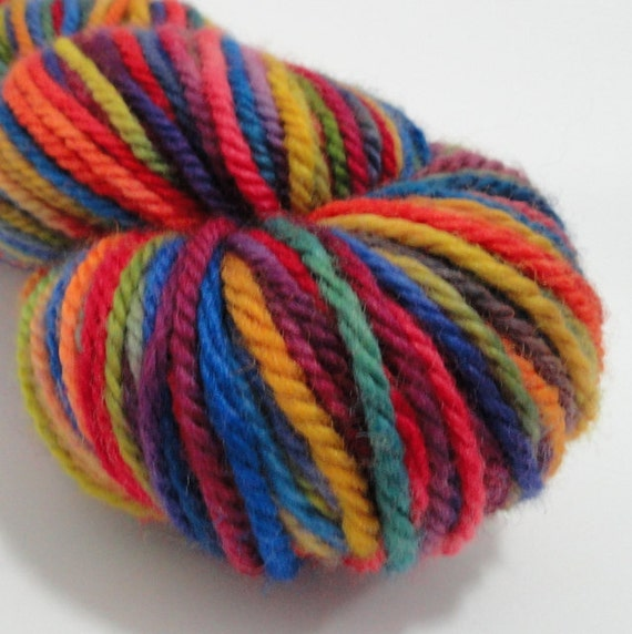 "Hand Dyed Yarn, Organic Yarn, Worsted Weight, Gaia Organic, 4oz, ""Jewel"""