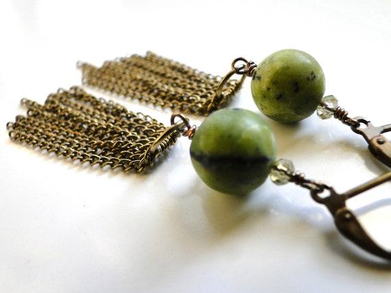 SALE Jewelry, Earrings, Dangle Earrings, Turquoise, Crystal, Gift for Her, Rustic and Earthy Earrings