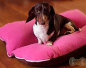 Magenta Berry Fleece Bunbed Dog bed for Dachshunds, Small Dog Bed, Dachshund Bed, Burrow Bed, Bun Bed