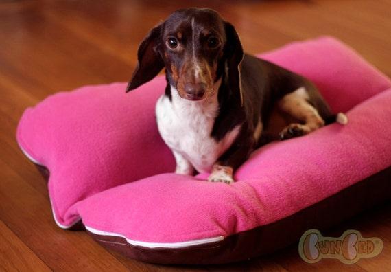 Magenta Berry Fleece Bunbed Dog bed for Dachshunds, Small Dog Bed, Dachshund Bed, Burrow Bed, Bun Bed