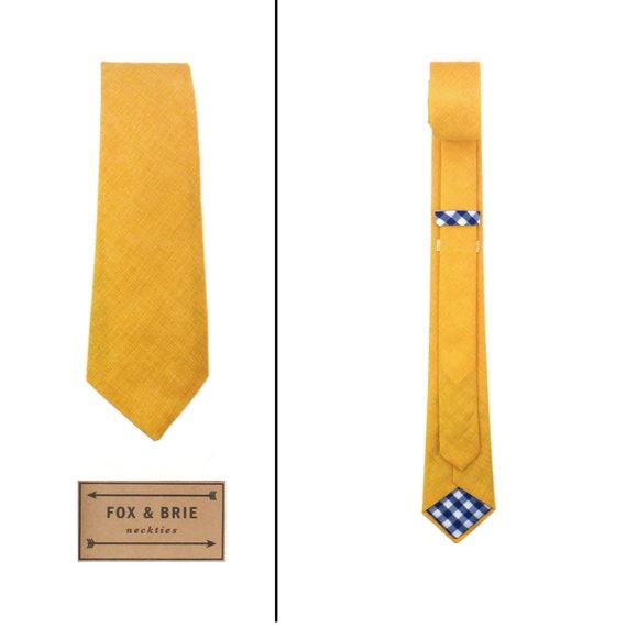 Saffron Chambray (necktie)
