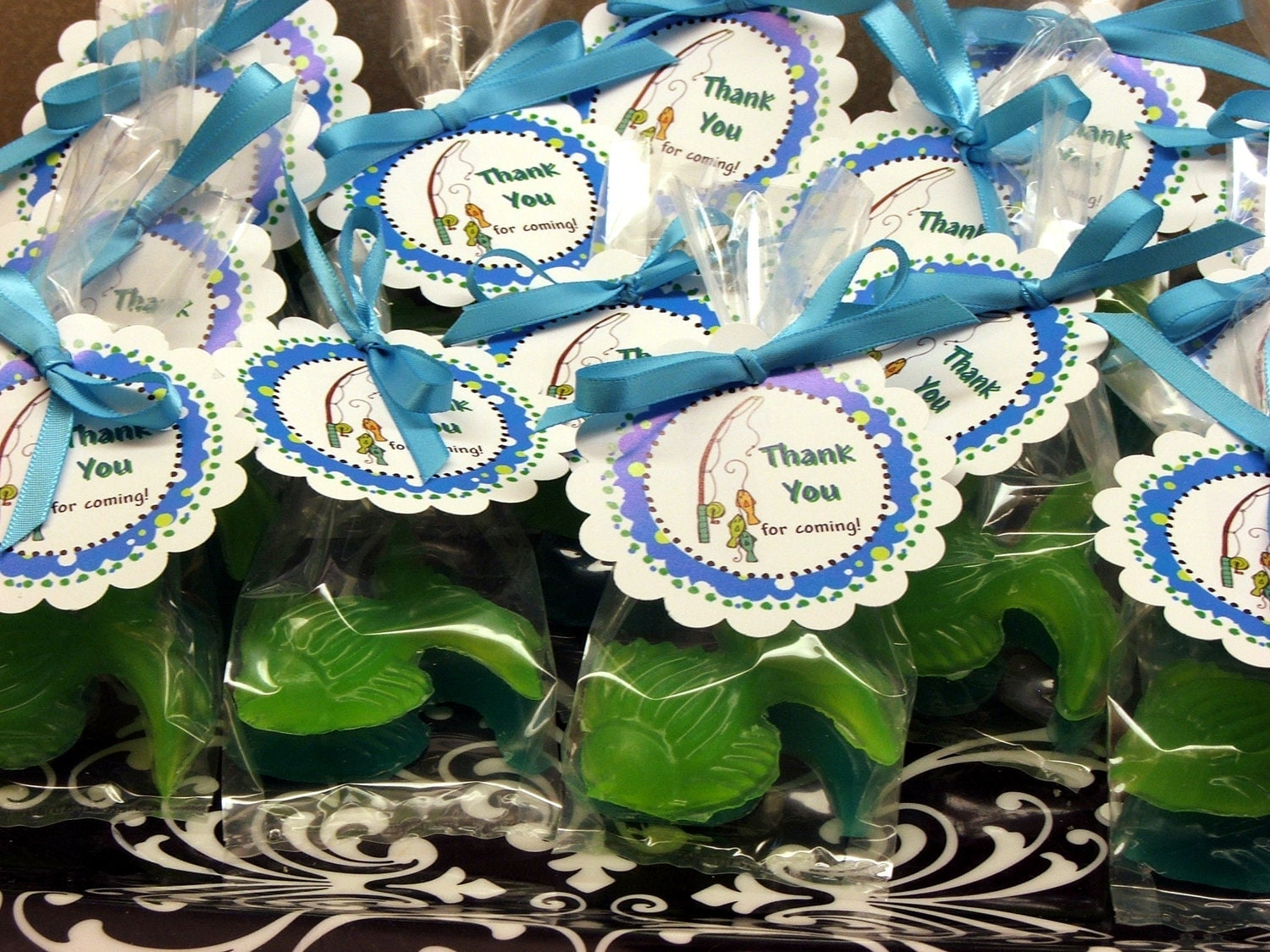 20 gone fishing fish soap party favors soaps birthday baby for Fishing party favors