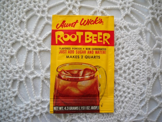 Vintage Root Beer Kool Aid Packet Aunt Wick's Very Rare