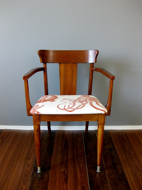 RESERVED listing for JOANNA- mid-century modern stained wood chair