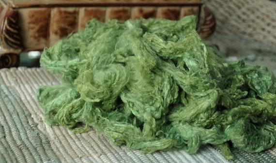 Silk Noil Blending Fiber Hand Dyed
