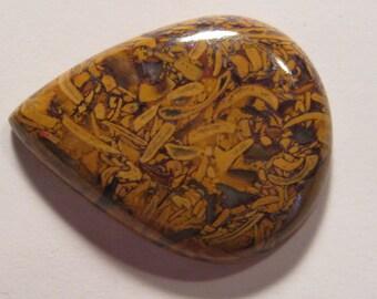 Elephant Skin Jasper cab   ...     35 x 27 x 7 mm   ...          1800