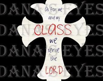 Faith Classroom Christian cross for teachers gift printable graphic art and craft supply