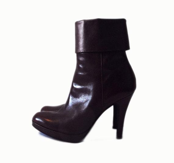 GIANNI BINI Maroon Boots Size 6.5