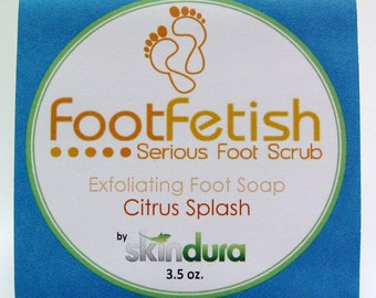 Exfoliating Foot Soap - FootFetish Serious Foot Scrub Citrus Splash Scent