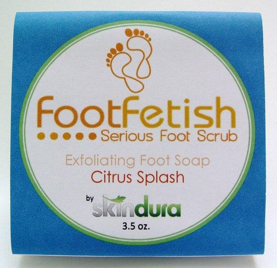 Exfoliating Foot Soap - FootFetish Serious Foot Scrub Citrus Splash Scent