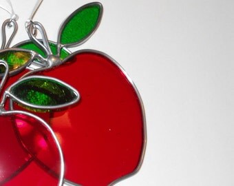 Red Apple Suncatcher