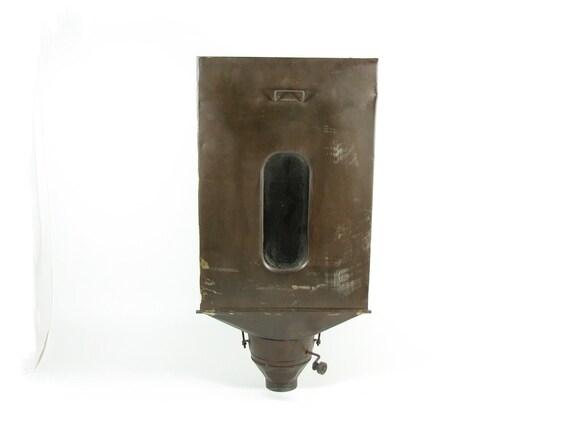 Vintage Metal Flour Bin Hoosier Cabinet Flour Sifter Chocolate Brown Vintage Wall Hanging