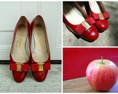 RESERVED - TWV Accessories - Candy apple red Salvatore Ferragamo pumps (size 7B)