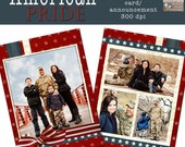 American Pride Card- double sided 5x7 template for photographers on whcc specs