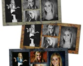 Rad Seniors Photo Collage/Storyboard Set- custom photo templates for photographers