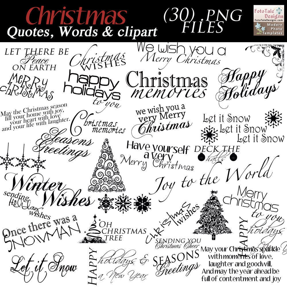 Instant download christmas word art collection by for Personalised word art template