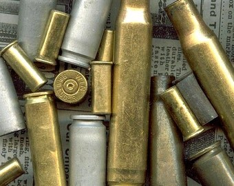 Man Size Bundle of undrilled Assorted Bullet Shell Casings from Colorado - Quarter Pound Sampler - ManMxU
