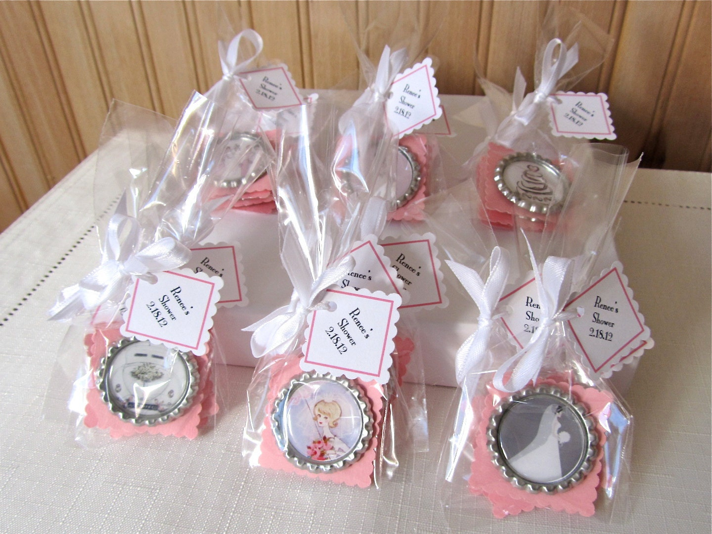 Bridal shower favor magnets for Shower favors wedding