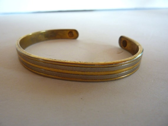 Vintage 24k Gold Electroplate And Silver Magnetic Men S