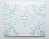 Yoga card - Letterpress Greeting Card - Namaste