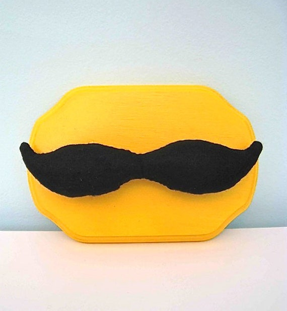 Mounted mustache felt taxidermy