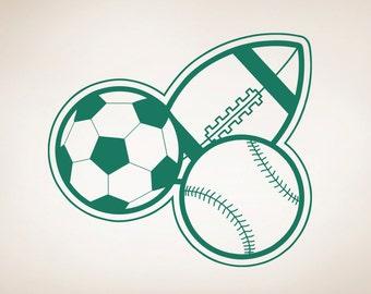 Vinyl Wall Decal Sticker Football, Baseball, Soccer OSAA176s