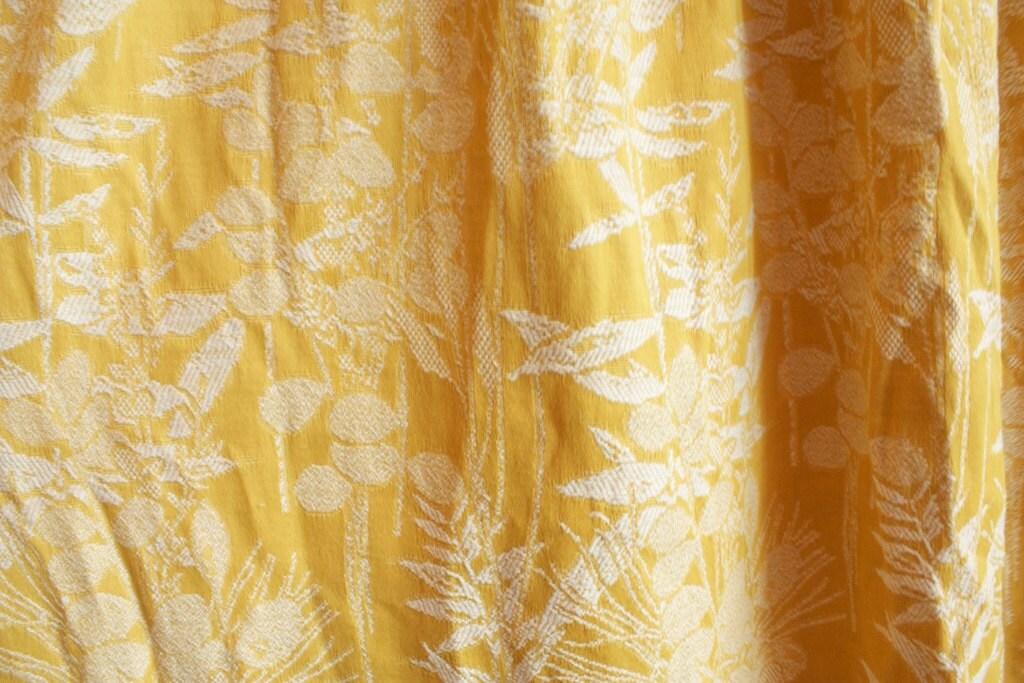 Vintage 1960s Kitschy Mustard Yellow Bark by TrueValueVintage
