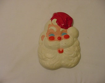 Vintage Chalk Santa Claus Christmas Decoration   XMAS  - 246