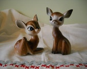 Vintage Fawn Salt and Pepper Shakers