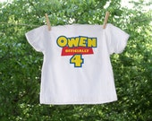 Personalized Custom Birthday Toy Story Themed Name and Number Shirt
